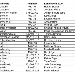 WahlkreiskandidatInnen SPD Bornheim 2020