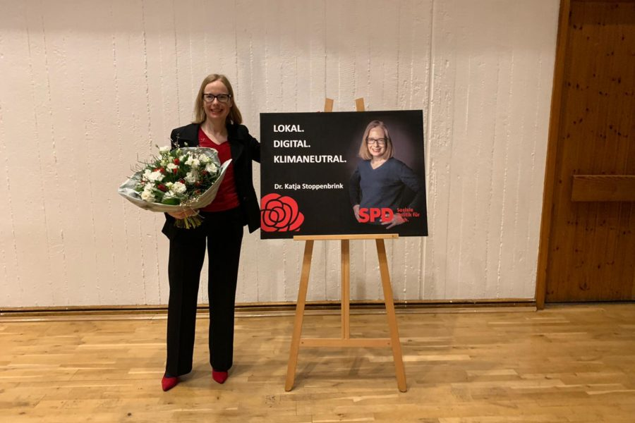 Katja SToppenbrink Bundestagskandidatin SPD Rhein Sieg im WK 98