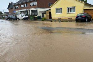 Hochwasser Apostelpfad Bornheim 2021
