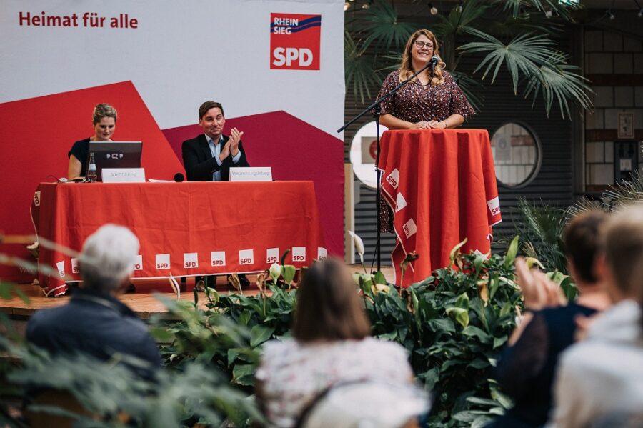 Anna Peters, SPD Bornheim während ihrer Nominierungsrede